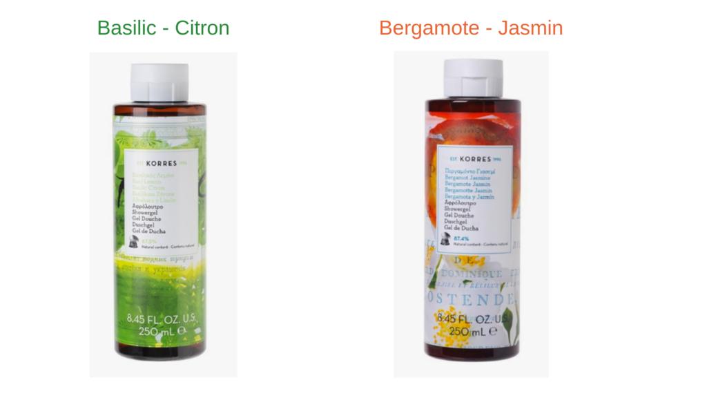 wishlist printanière 2019 gel douche korres basilic citron et bergamote jasmin