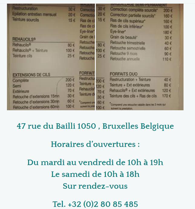 tarif atelier du sourcil REHAUCIL