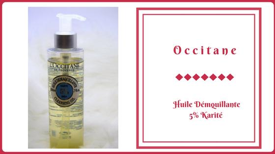 occitane huile démaquillante 5% karité frivole et futile