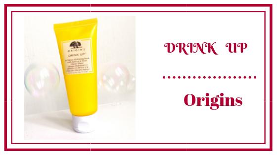 avis sur le masque Drink up d'origins blog frivole et futile