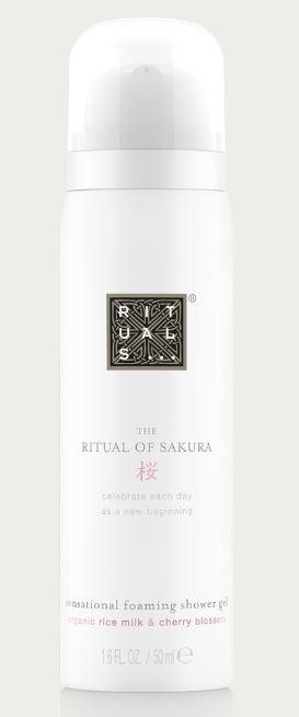 ituals gamme sakura mousse de douche 50 ml