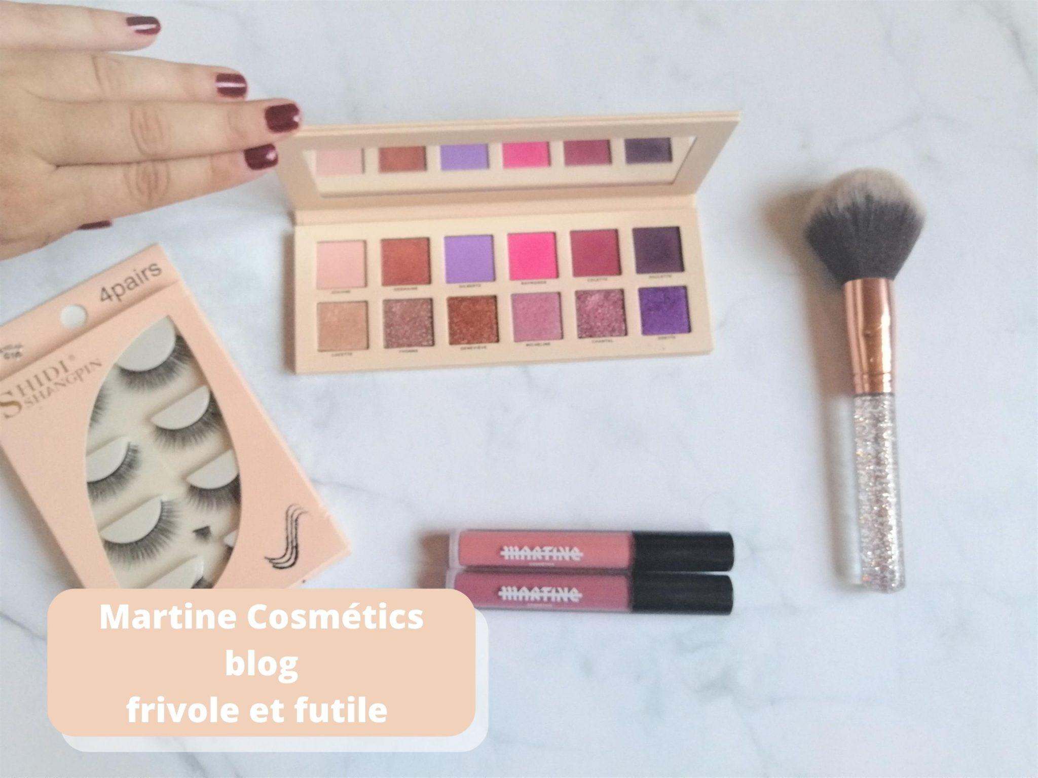 Martine Cosmetics douce tchoin blog frivole et futile