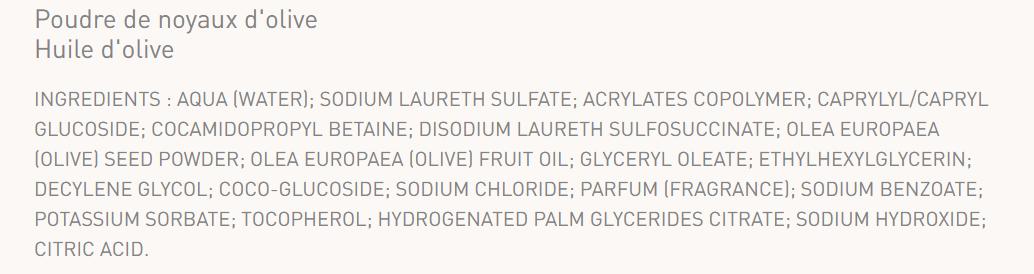 poudre de noyaux d'olive lepetit olivier gommage visage