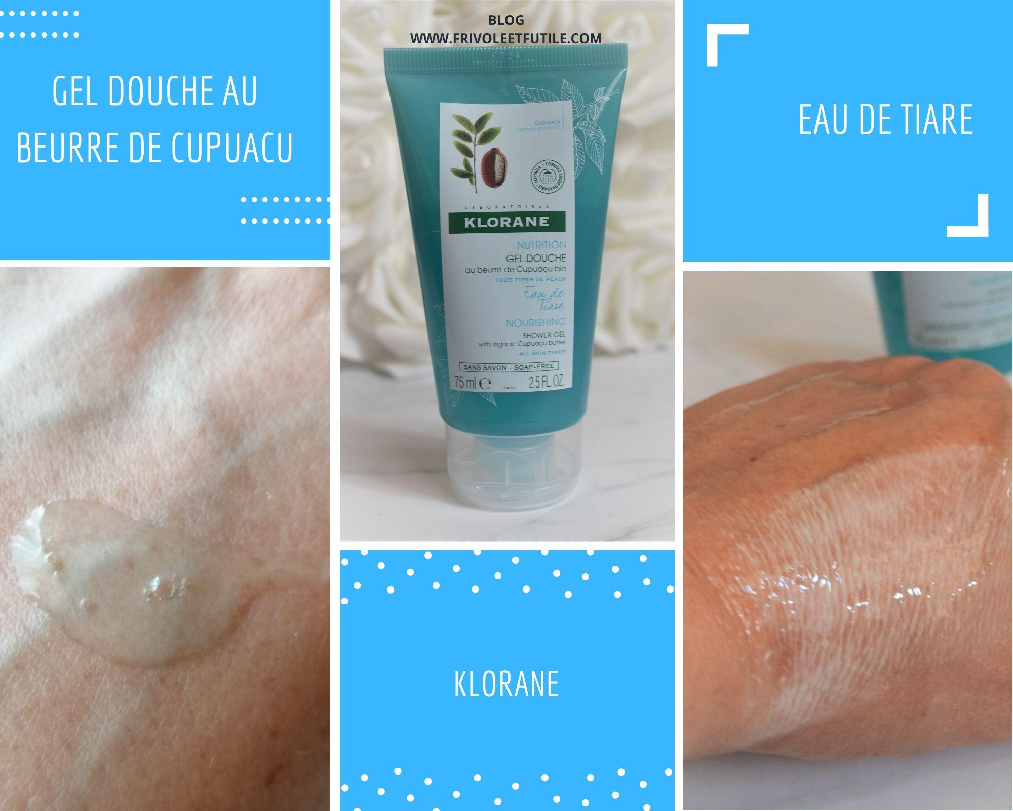 Klorane Gel douche au beurre de cupuacu blog frivole et futile (1)