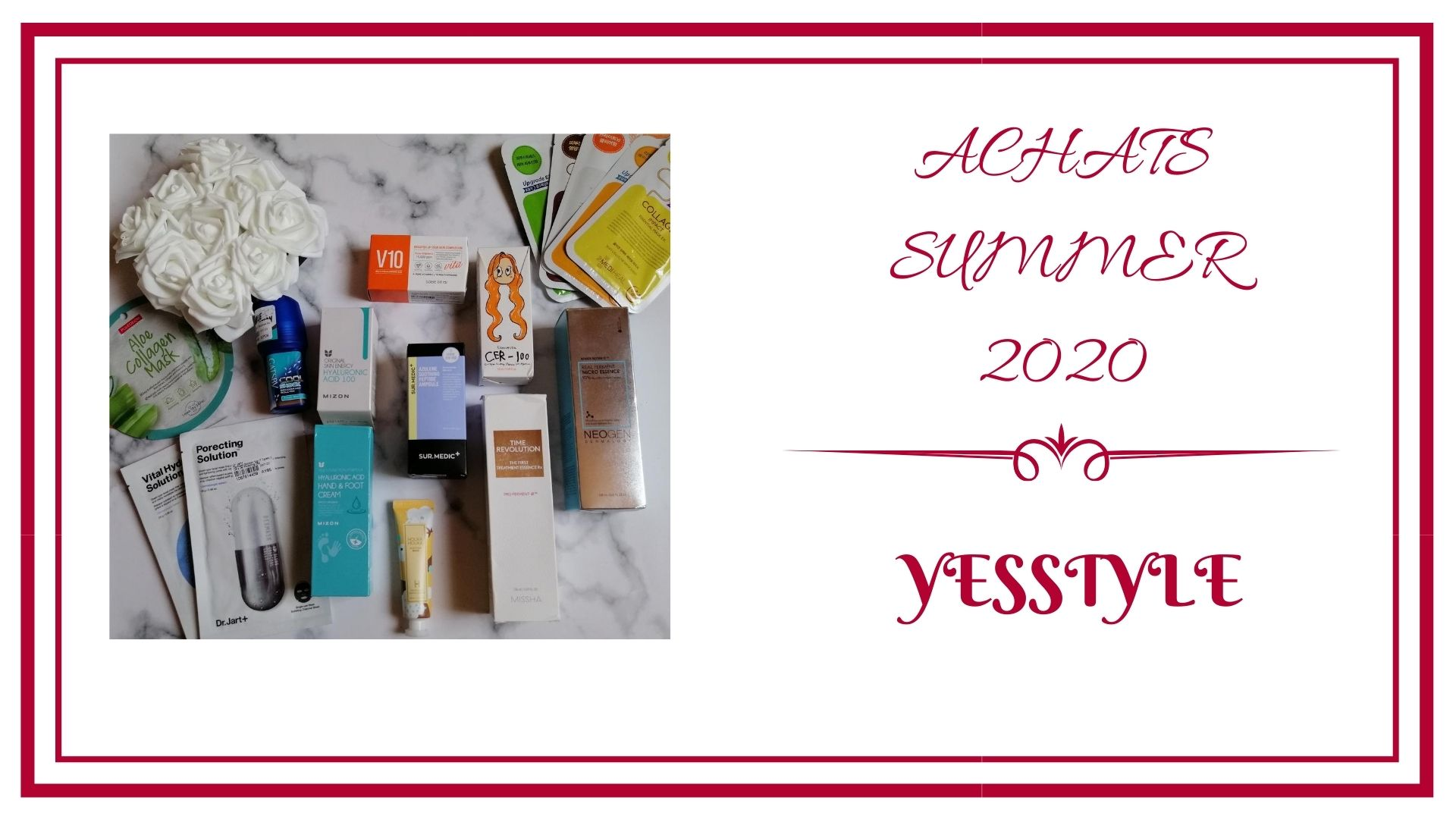 BLOG frivole et Futile achat summer 2020 YESTTYLE