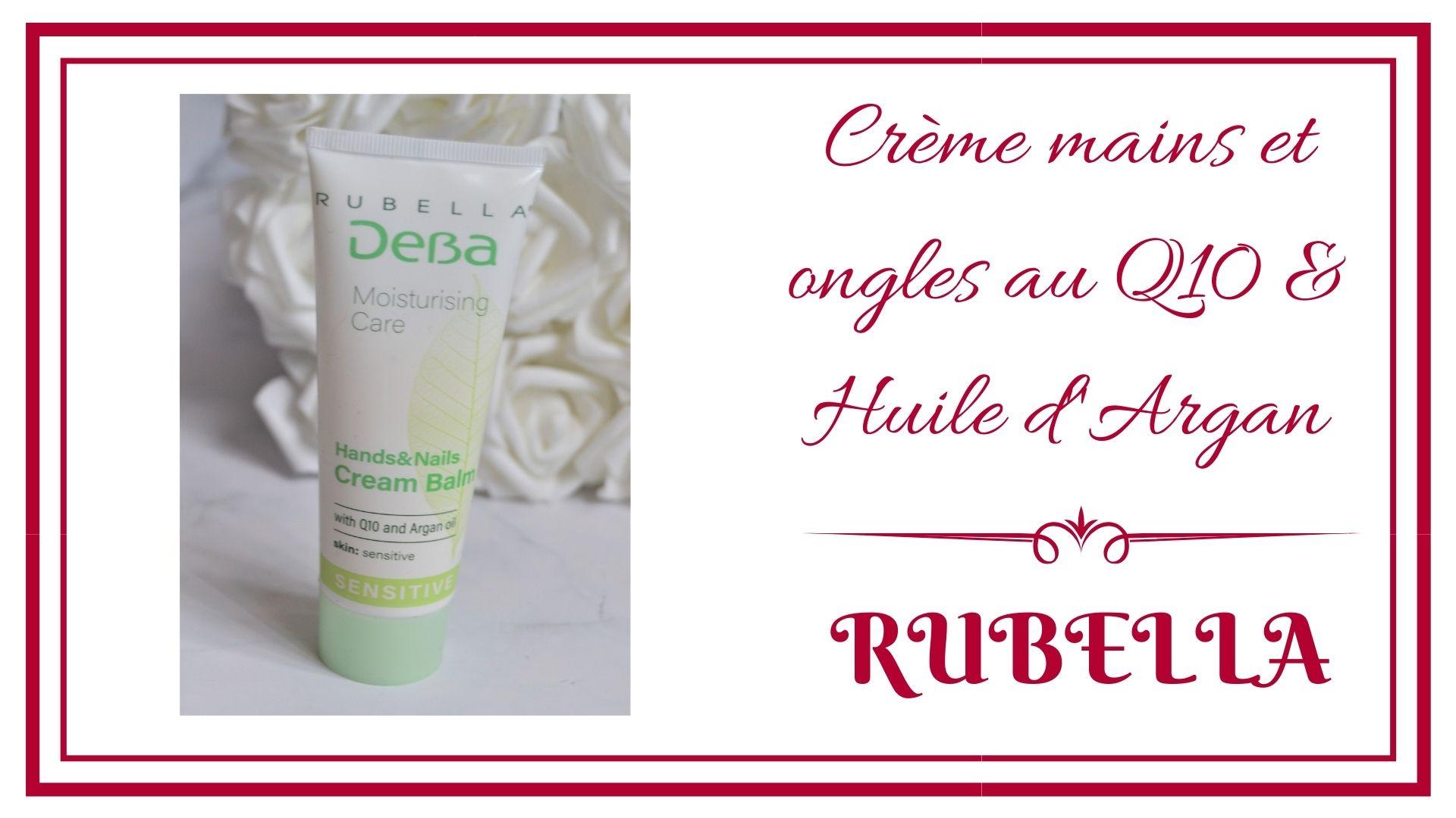 crème mains Q10 et huile d'argan de la marque rubella