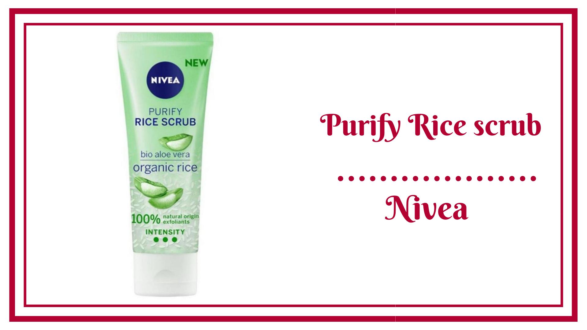purify rice scrub nivea Riz Purifiant