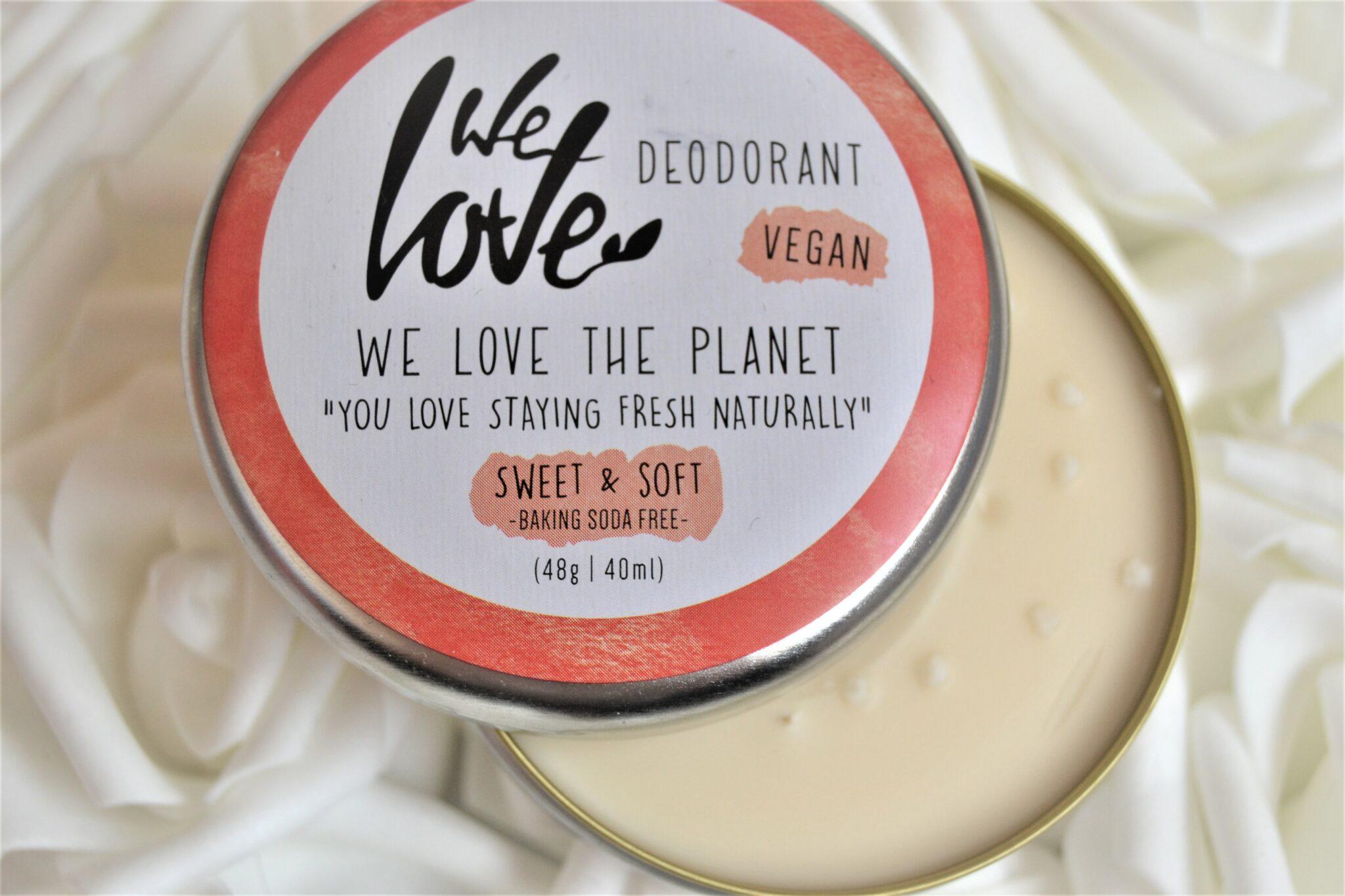 sweet & soft we love the planet déodorant vegan