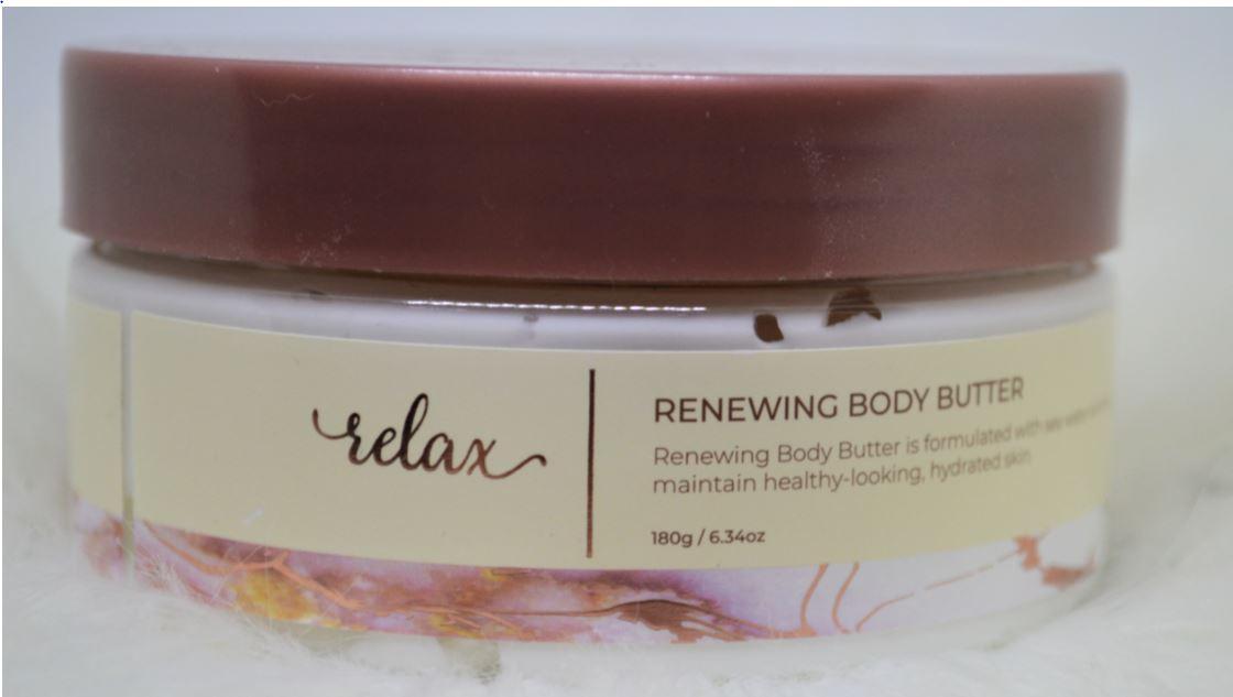 pot relax sea mineral renewing body butter manna kadar cosmetics