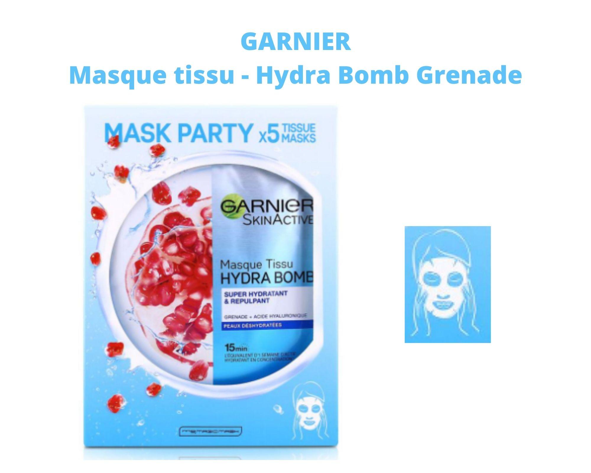 masque tissu sheet masque Hydra bomb garnier blog frivole et futile